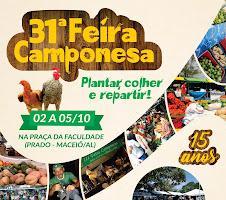 AL - 31ª Feira Camponesa dá continuidade à comemoração dos 15 anos do evento na Praça da Faculdade